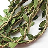 10M Artificial Vine Fake Foliage Leaf Plant Garland Rustic Wedding Home Decoration