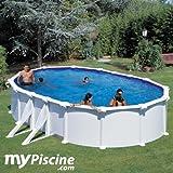 Piscina san marina pool fidji acciaio bianco 7.30 x 3.75 x 1.2m KIT730ECO