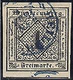 Goldhahn Württemberg Nr. 1 a gestempelt geprüft Briefmarken für Sammler