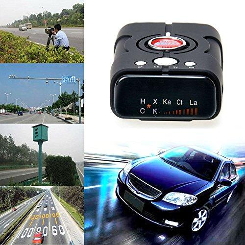Detektor, Radarwarner mit 360-Grad-Erkennung, Sprachalarm, Geschwindigkeitswarnsystem, Radarwarner