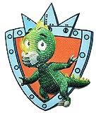 alles-meine.de GmbH Ritter Rost - Bügelbild - Drache Koks - 5,5 cm * 6,5 cm - Ritterburg - Applikation / Aufnäher gewebter Flicken - Prinz Burgen - Eisenhart und voll verbeult - Mädchen Jungen Kinder