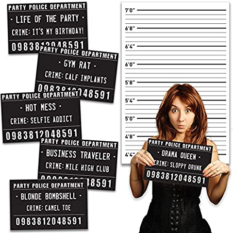 20 Outrageously Hilarious Birthday Party Mug Shot Signs - For