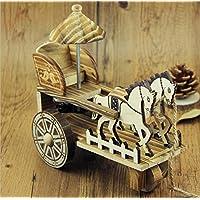 pengweicarro de la caja de música de madera antigua artesanía creativos adornos