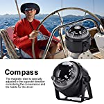 Dilwe Boat Compass, Black Electronic Adjustable Compass for Boat Night Vision 13