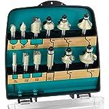 ENT 09012PLUS Frezenset PLUS editie. De 12-delige set met een absolute meerwaarde door zijn 4 groeffrezen met hardmetaal boor