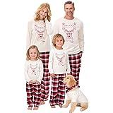 Famiglia Santa Cervi Abiti da Natale Tuta Pigiama Sleepwear 2PC Uomo Donna Bambini Vestiti Manica Lunga Tops + Pantaloni Set