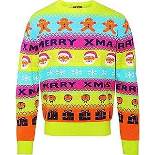 ASVP Shop Adults Full Sleeve Crew Neck Gingerbread Men & Santa Faces Christmas Loud Jumper