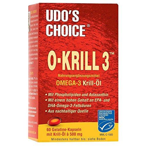 Krillöl nach Udo Erasmus | 60 Kapseln | Mit Omega-3 Fettsäuren EPA und DHA & Cholin | Leicht verdaulich & verwertbar | Kein unangenehmes Aufstoßen | MSC-zertifiziert (Omega-3-flora)