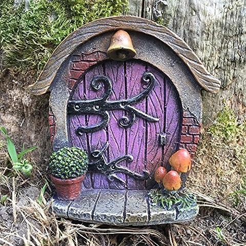 Presents.com Décoration pour jardin en forme de porte miniature style Hobbit, Pixie, Elfe, porte de féeHauteur 7