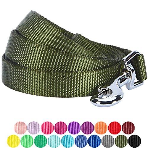 by 150 cm Klassisch Einfarbige Kleine Basic Nylon-Hundeleinen Langlebig - Militärgrün, S Kleine Hundeleine, Passender Hundehalsband & Hundegeschirr erhältlich Separate ()