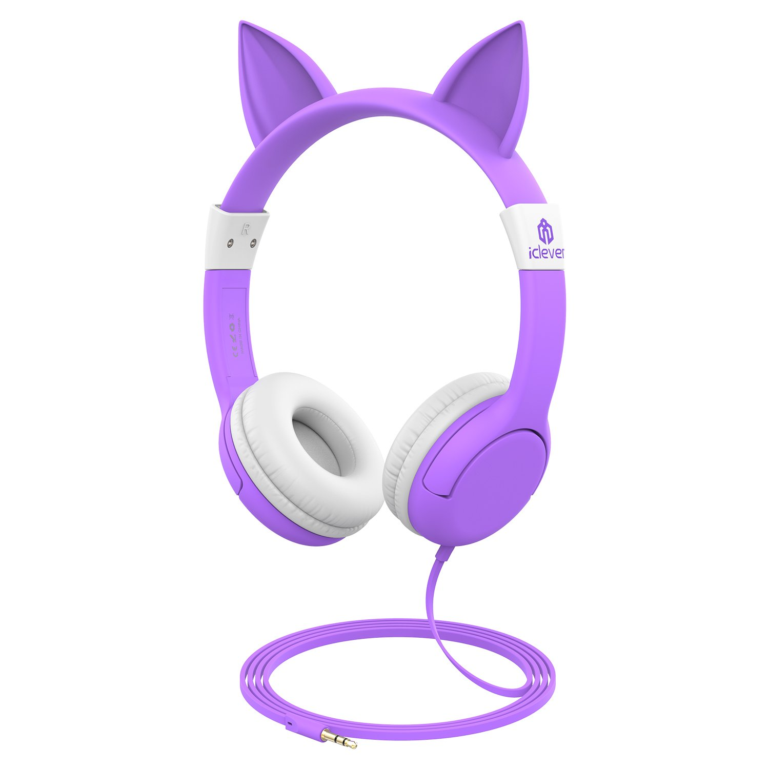 368ddaefe71 iClever BoostCare Kids Headphones, Wired On-Ear Headphones with Cat ...