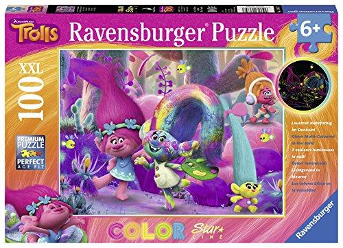 TROLLS Puzzle XXL de 100 piezas Brilla en la Oscuridad