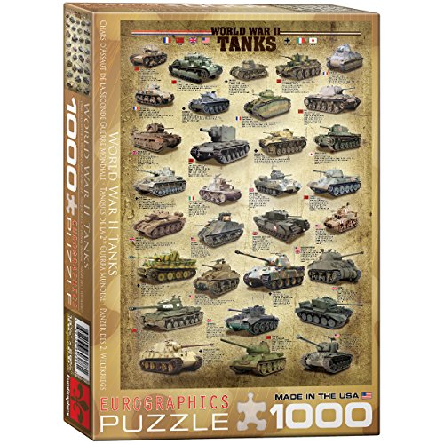 Eurographics Puzzle 1000 Pezzi- World War Ii Tanks (Eg60000388)