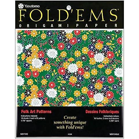 Assortimento di carta per origamiorigami Fold'ems 15x15 cm Folk Art x1