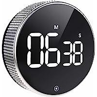 Timer da Cucina  Cronometro Digitale a LED con Conto alla Rovescia Magnetico  Un Pulsante Facile da Usare per Anziani e Bambini