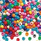 Großpackung Perlen - bunt - für Kinder zum Basteln von Schmuck - Ketten - Armbändern - 600 Stück