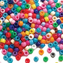 Baker Ross Coloured Beads (Pack Of 600) For Kids Arts and Crafts, 10cm, Assorted