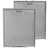 SPARES2GO Metallgitter Filter für IKEA Dunstabzugshaube / Küche Sauglüfter Entlüftung (2 stück Filter, Silver, 300 x 250 mm)