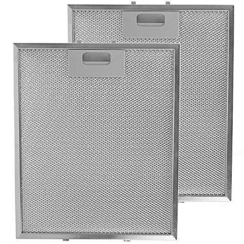 SPARES2GO Metallgitter Filter für IKEA Dunstabzugshaube / Küche Sauglüfter Entlüftung (2 stück Filter, Silver, 300 x 250 mm) - Küche Dunstabzugshaube Entlüftung