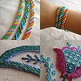 Stickgarn 100 StückBaumwolle Stripy Embroidery Floss multifarbenperfektfür Friendship Bracelets Freundschaftsbänder Kit StickereiBasteln Leisure Arts Kreuzstich Embroidery Threads NähgarneHäkeln 8m (gemischteFarben)