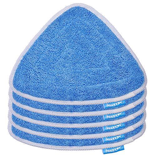 KEEPOW 5 Stück Ersatzbezug Steam Mop Pads für Vileda 100 Hot Spray Mop, Familienpackung, Blau