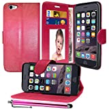 GAPlus® For Apple iPhone 5C, Premium Quality PU Leather Flip Wallet Slim Case Cover Pouch With ID Card Holder For Apple iPhone 5C + Free Screen Protector With Polishing Cloth And Stylus Pen