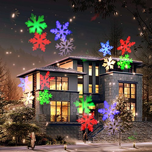 COOSA Luces Proyector Navidad LED,12 Diapositivas Exclusivamente Diseñadas, (RGBW 4 Colores LED) Luces Decorativas para Navidad ,Año Nuevo, Cumpleaños, Una Decoración Perfecta para su Hogar y Jardín
