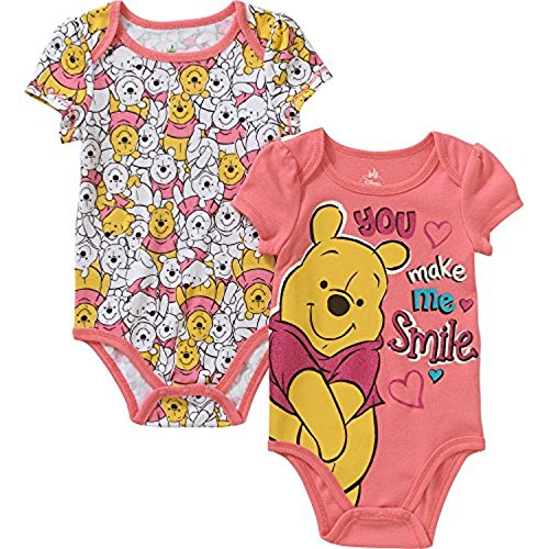 M?dchen 2 Pack Body Dress Up Outfit (3-6 Monate) (Winnie The Pooh Baby-outfit)