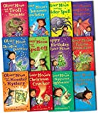 Oliver Moon Collection 12 Books Set Pack by Sue Mongredien RRP: £54.88 (Oliver Moon Collection Pack) (the Nipperbat Nightmare, the Monster Mystery, the Dragon Disaster, the Broomstick Battle, Fangtastic Sleepover, the Spell-off, the Potion Commotion, Christmas Cracker, Troll Trouble, the Spider Spell, Happy Birthday, Summer Howliday)