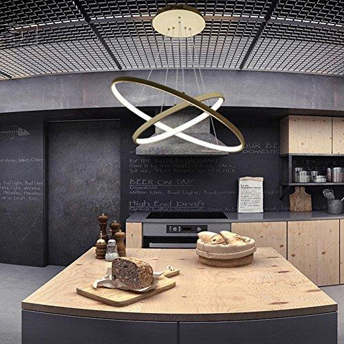 Oofay light® lampadari lampada a sospensione classica moderna in stile moderno led da cucina in alluminio creative living room art lampada a sfera rotonda due, c