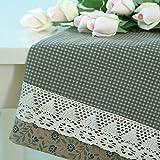 Mejor valor Mantel pastoral de tela floral azul Mantel reticulado de rejilla de encaje Mantel rectangular (2 colores opcionales) (tamaño opcional) Para cualquier mesa ( Color : A , Tamaño : 100*100cm )