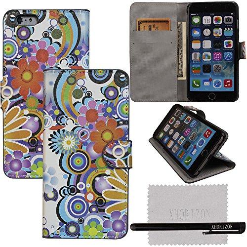 xhorizon® Aquarell PULeder Brieftasche Stand Case Hüllefür 5.5 Inch iPhone 6+ Plus #4