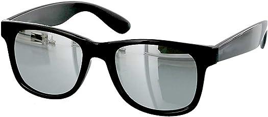Younky Unisex UV Protected Wayfarer Stylish Silver Mercury Sunglasses, 55mm (Silver, Silver-Mercury-Wayfarer)