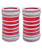 #4: MAA AMBIKA Designer Red color Bridal Punjabi Choora Wedding Chura, Chuda for Womens & Girls
