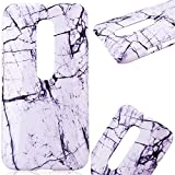 GrandEver Hard Back PC Cover for Motorola Moto G3 Marble Pattern Design Rigid Plastic Case Ultra Slim Fit Flexible Snap On Cover Marble Natural Stone Gloss Plastic Shell for Motorola Moto G 3rd Generation --- White