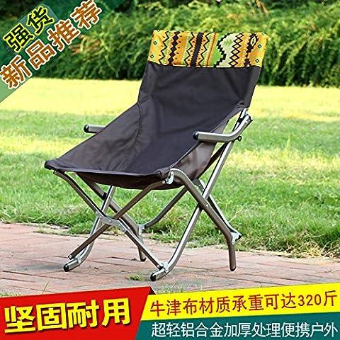 Chaise pliante outdoor ultra light portable en alliage d'aluminium chaise chaise,petit