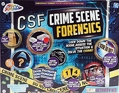 Large CSF Crime Scene Forensics Toy Kit - Build and Solve The Case!