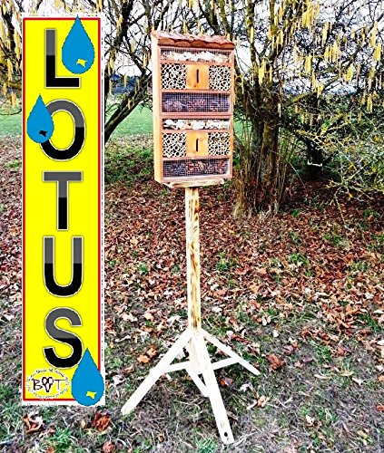 Insektenhaus dunkelbraun Teak Look mit Schmetterlingshaus braun insektenhotel - 2