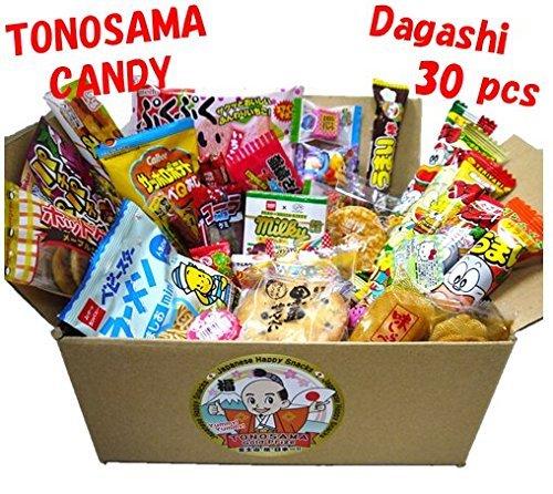 Japanese candy assortment 30pcs , full of dagashi. TONOSAMA CANDY by TONOSAMA CANDY BOX Meito China Japan
