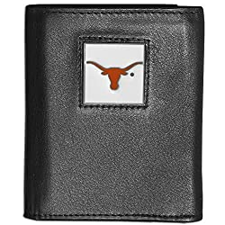 NCAA Texas Longhorns Deluxe Leather Tri-fold Wallet