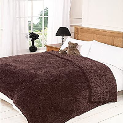 * * Plus de tela. Oso de peluche Peluche doble-Manta (150x 200cm manta de manta cama/sofá Throwover (