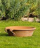 frostfeste terracotta Pflanzschale, 40 cm zum Bepflanzen Pflanz-Gefäß Miniteich Garten