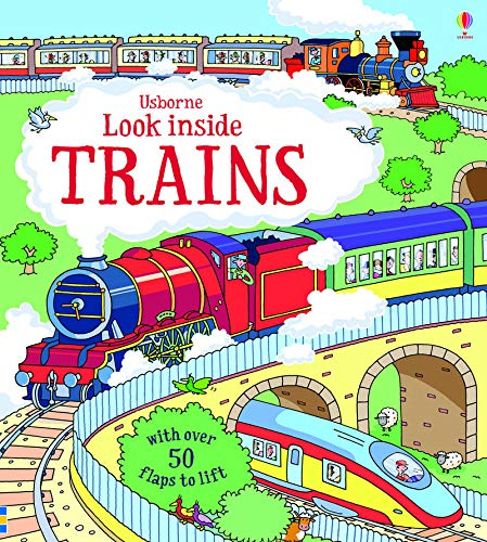 Look Inside Trains (Look Inside Board Books)