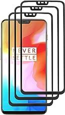 SAYOMOK [3 Stück] Panzerglas Oneplus 6 Panzerglas Folie, Oneplus 6 Schutzfolie, 3D Anti-Kratzen Displayschutzfolie [9H Härte]- schwarz