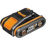 WORX WA3551.1 Accu 20V - oplaadbare batterij voor alle WORX apparaten - 2000mAh Li-Ion accu PowerShare, Zwart en Oranje