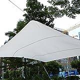 Toldo de Vela de Sombra Rectangular para Jardín, Terraza, Calle y ExterioresResistente al Agua con Proteción UV, Bolsa de Transporte y Juego de Cuerdas Tensores (4,5×5M, Beige)