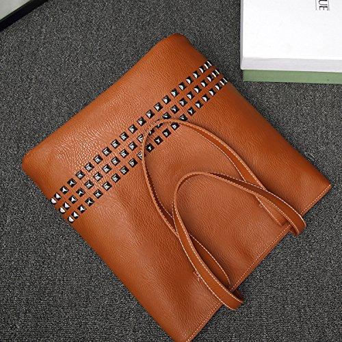Auspicious beginning Rivet spalla portatile borsetta di pelle casual maniglia Marrone Cómodo Dónde Comprar Bajo Precio Footlocker En Línea cIjMe
