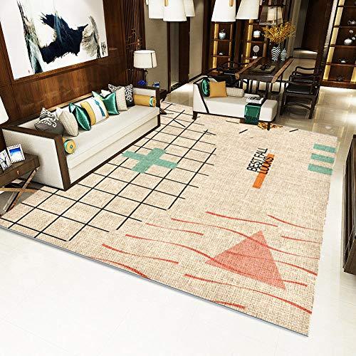 jasmineXDLstore Decoracion para salonAlfombra de diseño para el hogar Dobladillo de Punto...