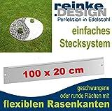Reinkedesign Rasenkante aus Edelstahl flexibel, 100 cm x 20 cm