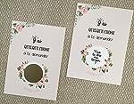 Carte à gratter demande de témoin fleurs romantiques